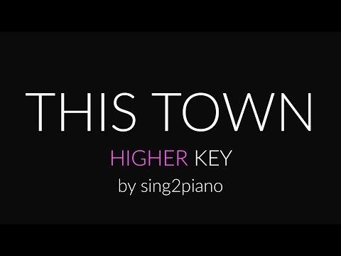 This Town (Higher Piano karaoke demo) Niall Horan