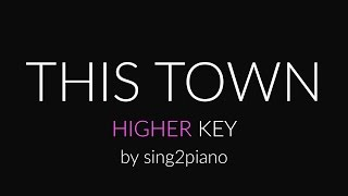 This Town (Higher Piano karaoke demo) Niall Horan