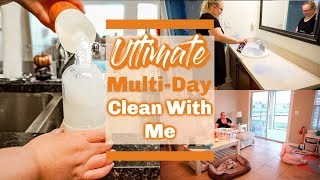 *ULTIMATE* MULTI-DAY CLEAN WITH ME//EXTREME CLEANING MOTIVATION/Heather McCarthy