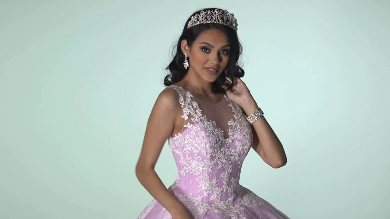 7cb66aa6f Q by DaVinci Quinceanera Dresses  Style 80407 - YouTube