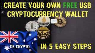How To Create A FREE USB Cryptocurrency Wallet In 5 Easy Steps - XRP & Bitcoin