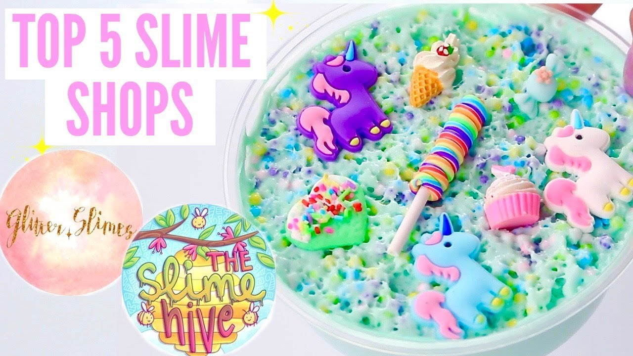 MY TOP 5 SLIME SHOPS + $500 GIVEAWAY// 100% HONEST Famous + Underrated  Instagram Slime Shop Review!
