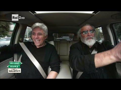 Dino Abbrescia e Diego Abatantuono  MilanoRoma In viaggio con i Gialappa's