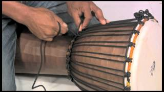 How to Tune a Djembe, Rope Tuning Instructions - X8 Drums