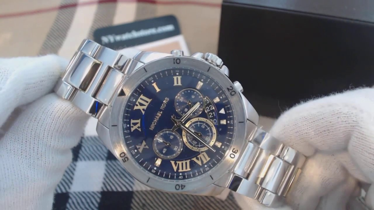 fba8a78c2205 Men s Michael Kors Brecken Stainless Steel Chronograph Watch MK8437 ...