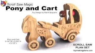 Wood Toy Plans - Pony And Cart