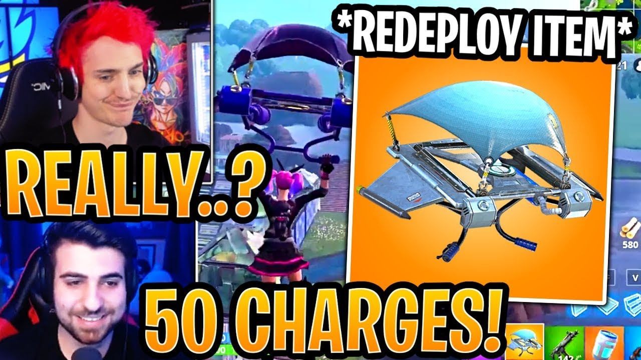streamers-react-to-new-glider-redeploy-item-itemized-redeploy-fortnite-moments