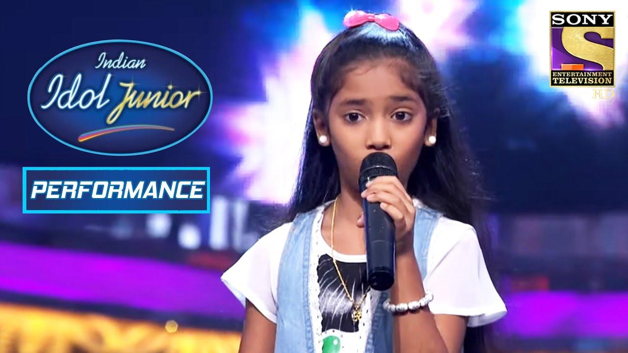 Download Sugandha's 'Mere Khwabon Mein' Performance Rocked The Stage!   Indian Idol Junior
