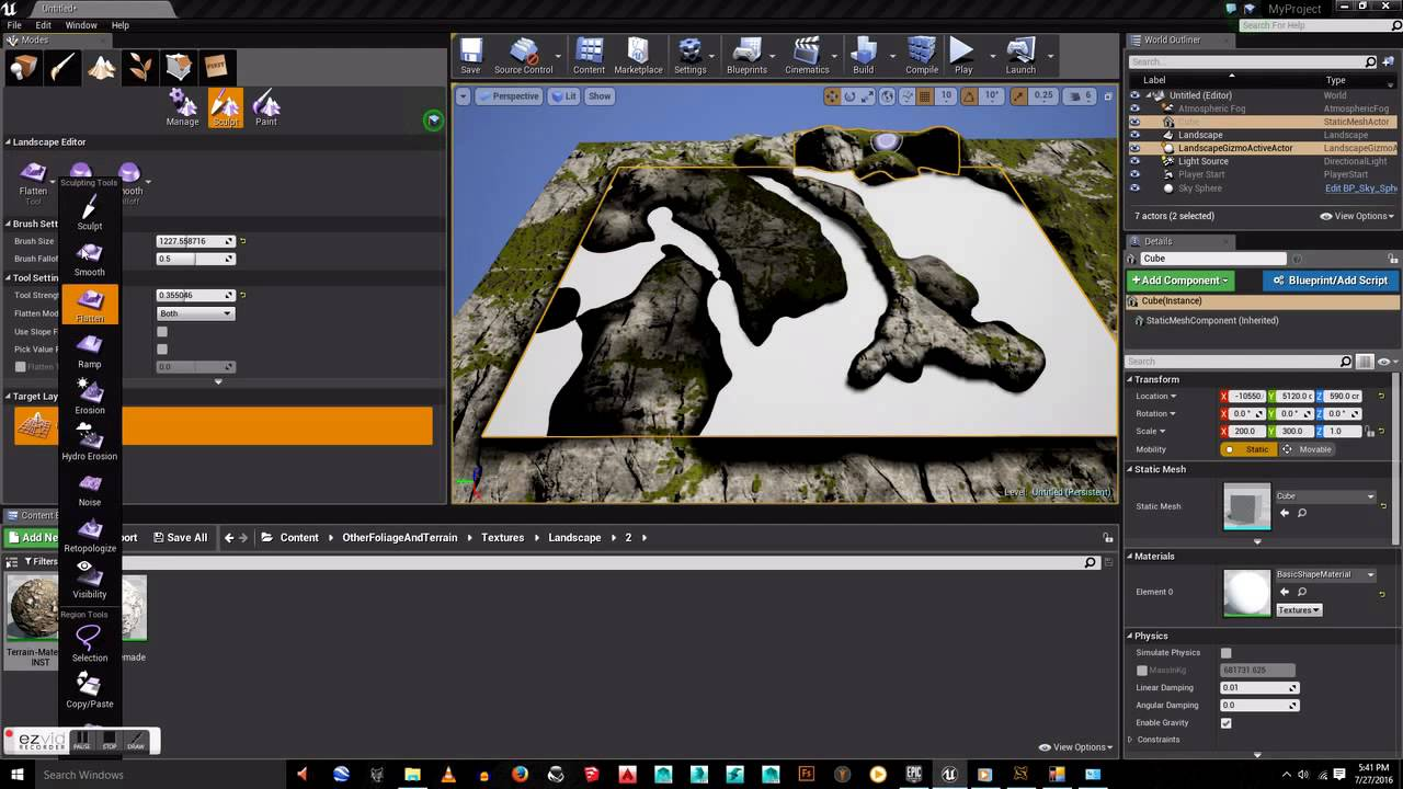 Unreal engine 4 landscape creation youtube unreal engine 4 landscape creation malvernweather Gallery