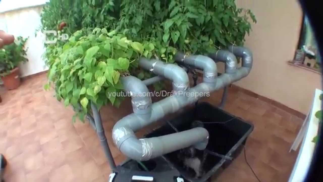 Cultivo hidroponico casero 2 4 youtube for Construir mesa de cultivo