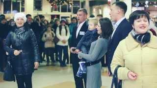 Рождественское настроение. Flashmob в ТЦ Sky Park