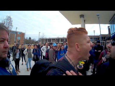 "Hypocrite ""christian"" vs. Campus Police! | Southeastern Louisiana University | Kerrigan Skelly"