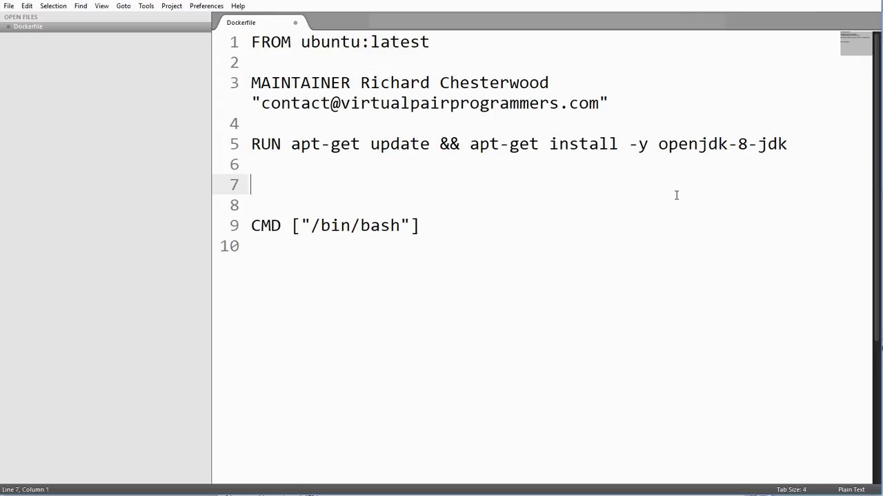 Dockerfile copy command