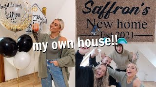 I BOUGHT MY DREAM HOUSE!! Getting the keys to my new house!