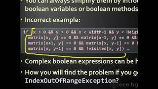 Качествен програмен код - ред на изпълнение на кода, условни оператори, цикли