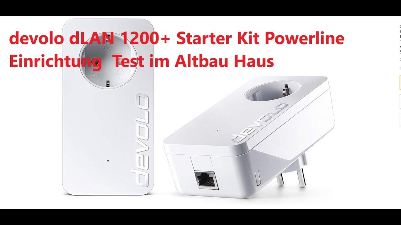 devolo dLAN 10+ Starter Kit Powerline Einrichtung Test im Altbau-Haus