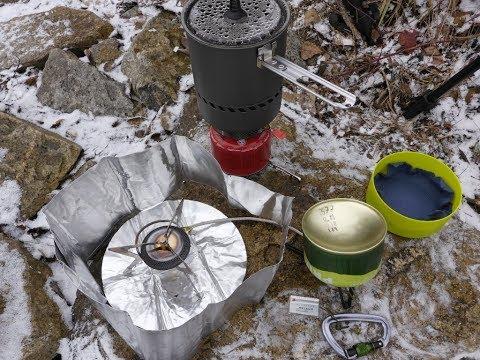 Gaskocher im Wintereinsatz - Vergleich 2er Gasmischungen