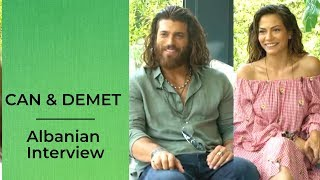 Can Yaman and Demet Ozdemir ❖ Albanian Interview ❖ Erkenci Kus ❖ English ❖  2019
