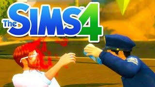 My First Fist Fight!! (The Sims 4 Get To Work)