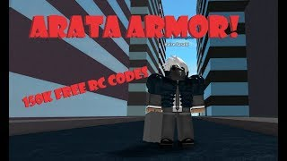 ARATA ARMOR!! NEW CODES FOR 150K RC!! | Roblox: Ro-Ghoul