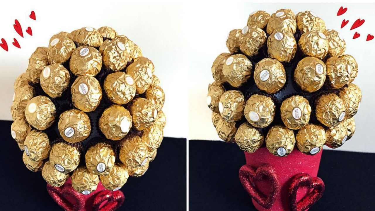 DIY Valentines Day! Ferrero Rocher Bouquet! - YouTube