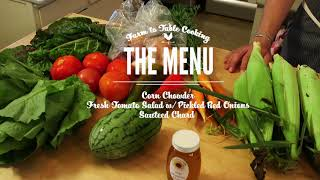 Farm Fresh Table; Farm to Table Cooking in Buncombe County Episode 3