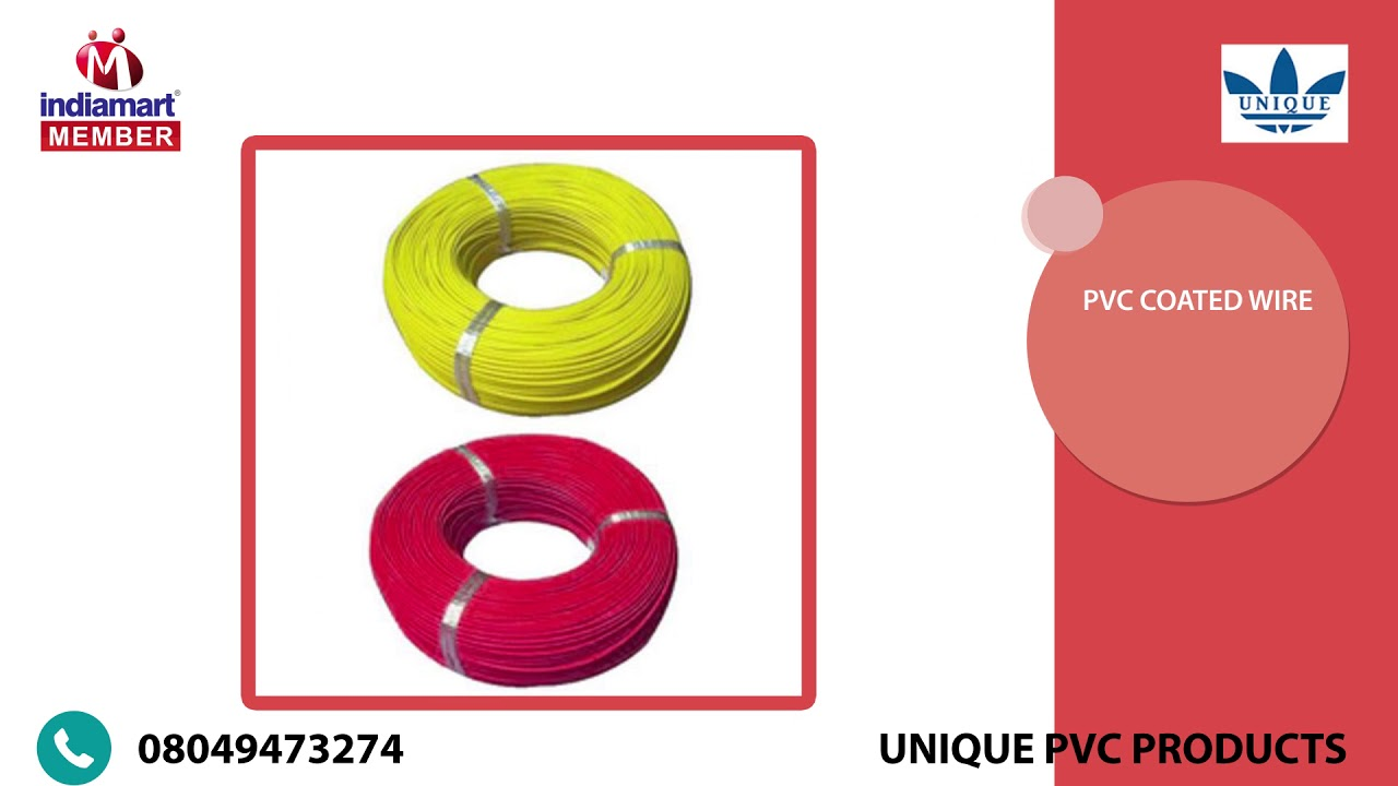 Manufacturer of PVC Coated Wire - YouTube