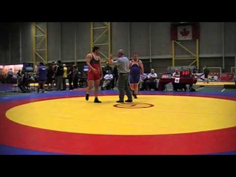 2014 Senior Greco-Roman National Championships: 130 kg Amir Bazrafshan vs. Dustin McKinney