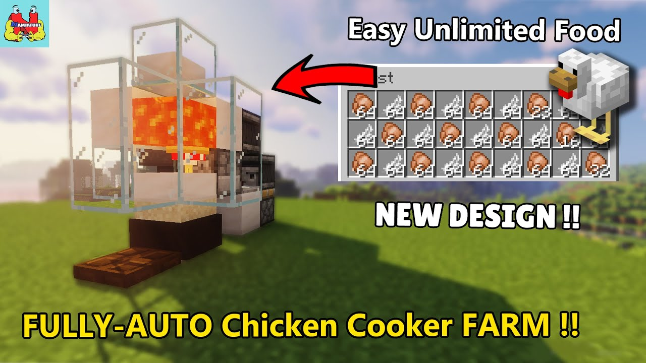 EASY Food Farm in Minecraft - Automatic Chicken Farm ...