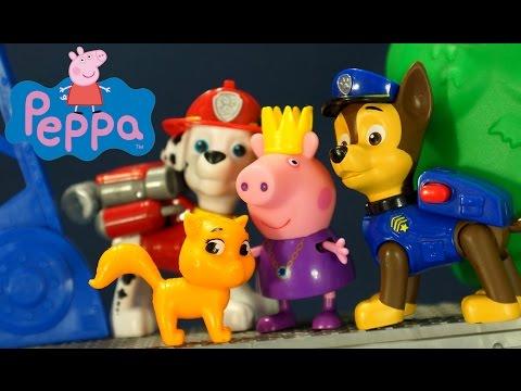 Щенячий Патруль и Свинка Пеппа на русском языке Мультфильм с Игрушками для Детей