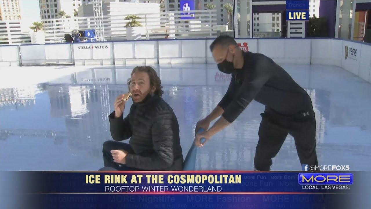 Sneak Peek Ice Rink At The Cosmopolitan Youtube