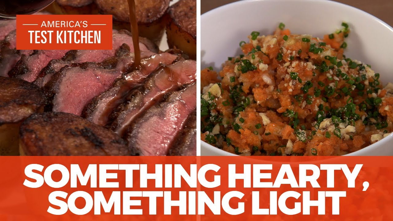 How to Make the Ultimate Dinner of Beef Top Loin Roast with Potatoes and Chopped Carrot Salad
