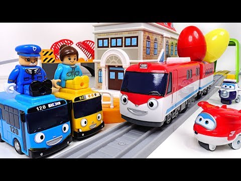 I'm best train Titipo Titipo~! Talking traffic center play with Tayo, Super Wings  - PinkPopTOY