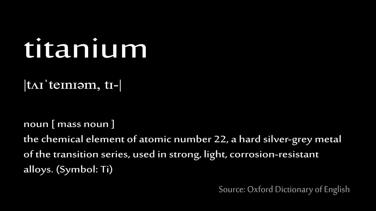 22 Titanium How To Pronounce Chemical Elements Periodic Table