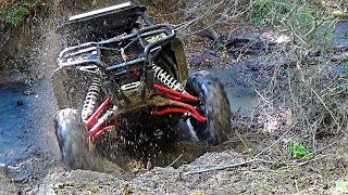 Polaris RZR XP 1000s - Nasty Creek Bank Climb - Stretchin
