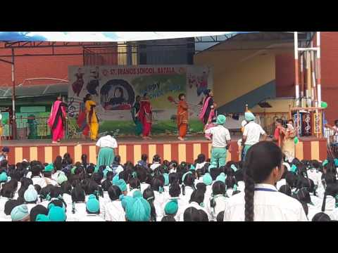 st.Francis school batala punjab..  best bhangra o teachers day  best perfomance