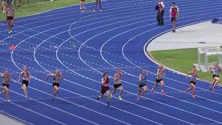 100m U15 Final Hilal Durmaz 12.12 +0.4 Queensland Junior Championships 2018 2017 Video