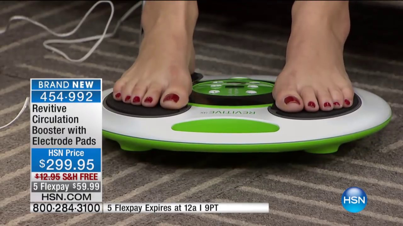 Revitive Circulation Booster With Electrode Pads Hsn Youtube