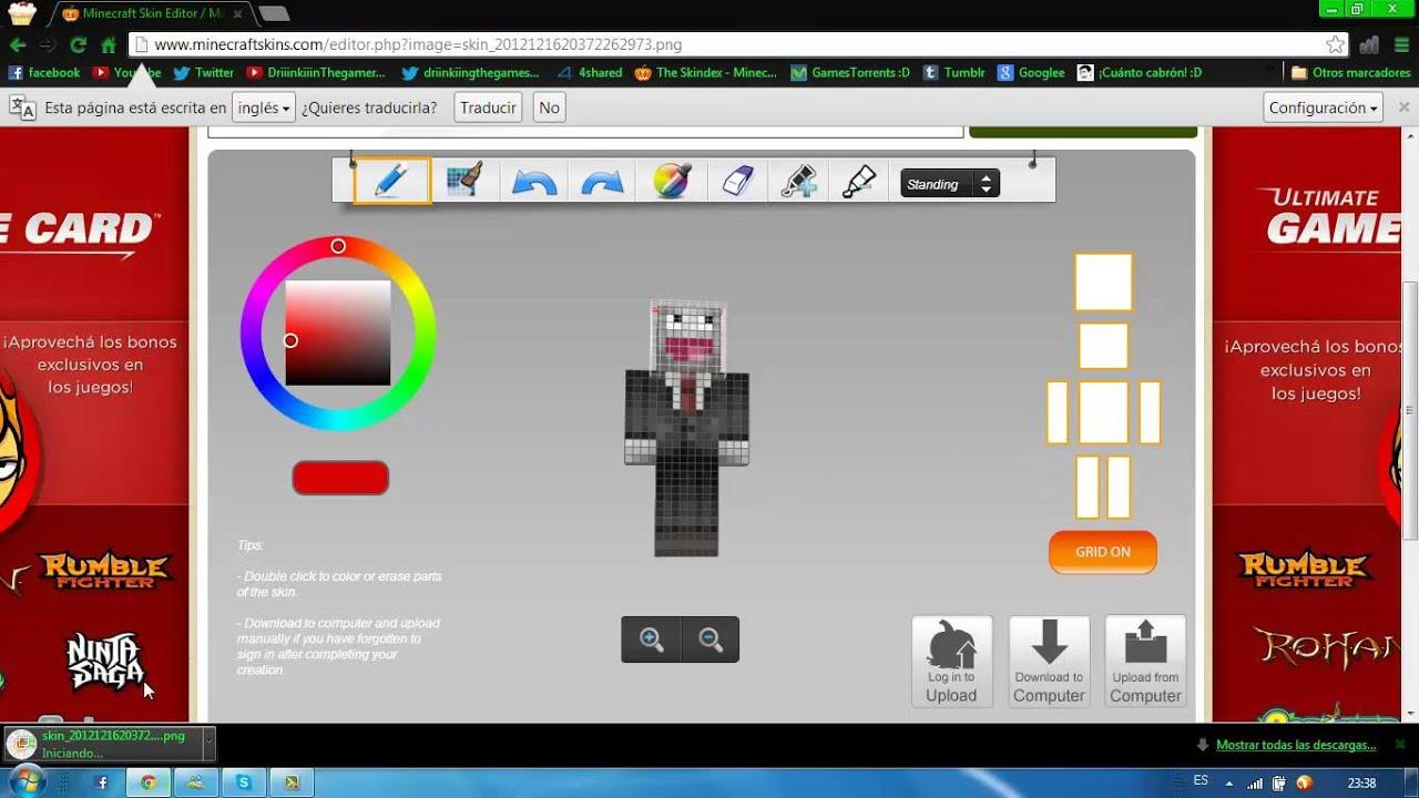 Crear Descargar E Instalar Skins Para Minecraft Todas Las - Criar skin para minecraft pc