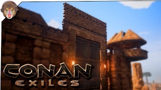 Conan Exiles Gameplay - P11 - Stonebrick Gateway, Torches #ConanExiles