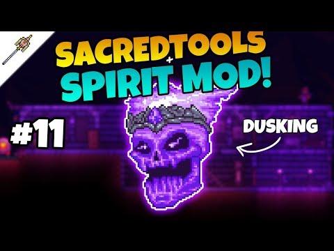 Dusking Boss In Terraria! Spirit Mod + SacredTools Mod Let's