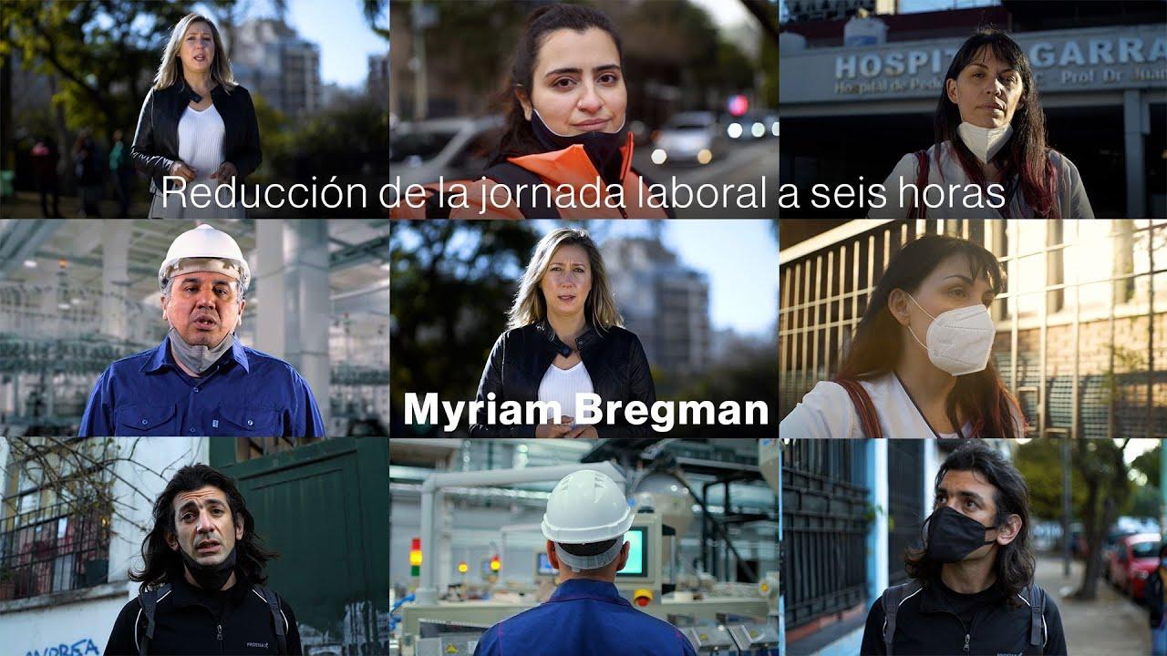 Reducción de la jornada laboral a seis horas, Myriam Bregman diputada nacional por CABA.