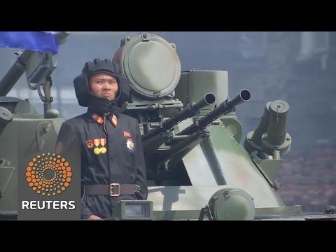 North Korea holds massive military parade