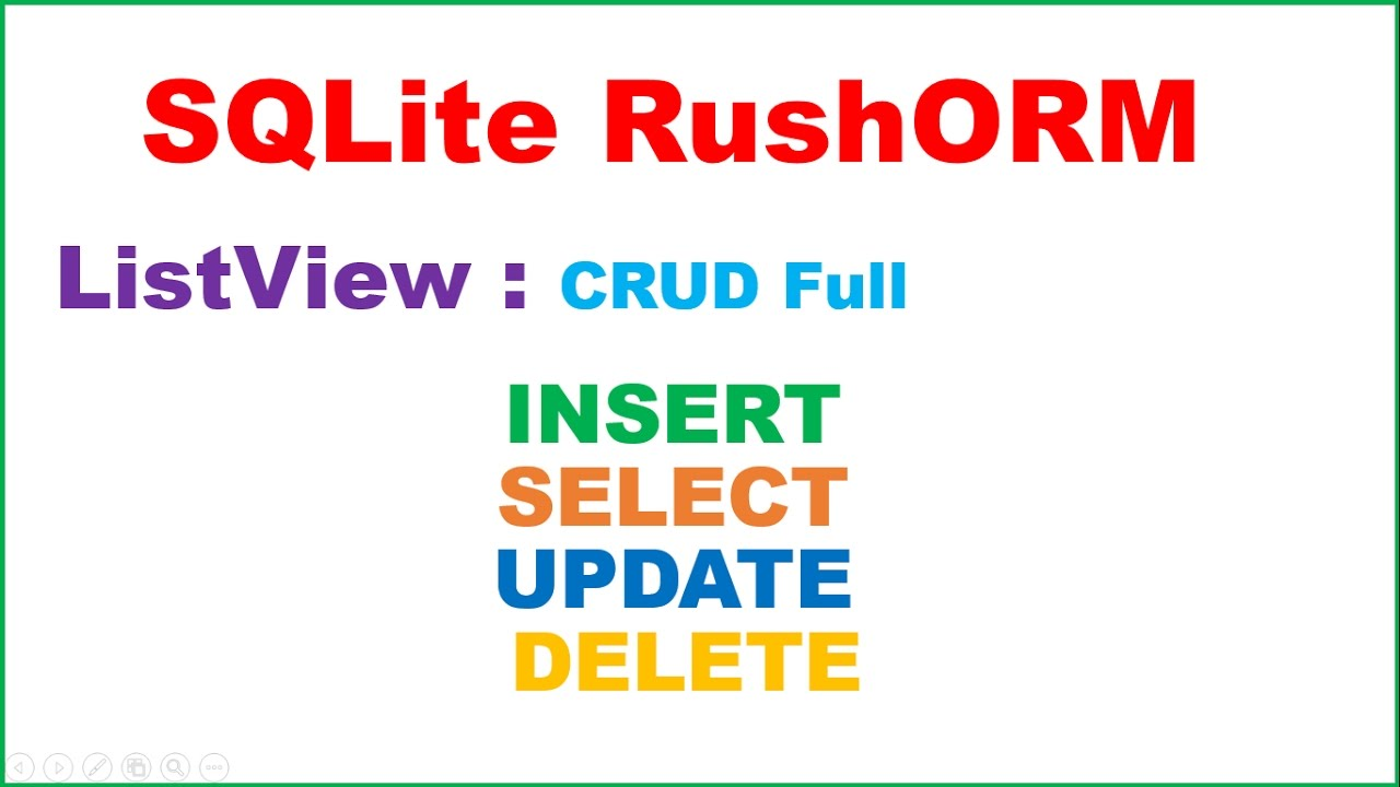 Android SQLite RushORM Ep 01 : ListView - INSERT,SELECT,UPDATE,DELETE