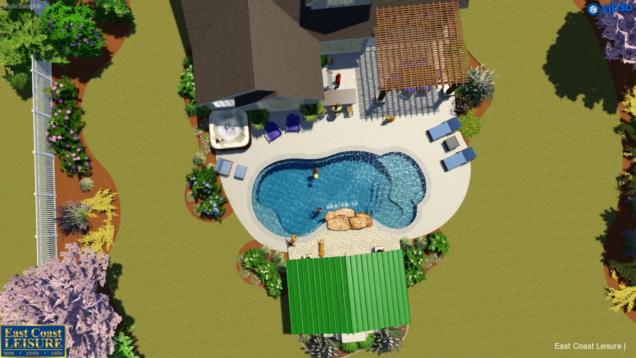 Backyard Design By East Coast Leisure In Virginia Beach