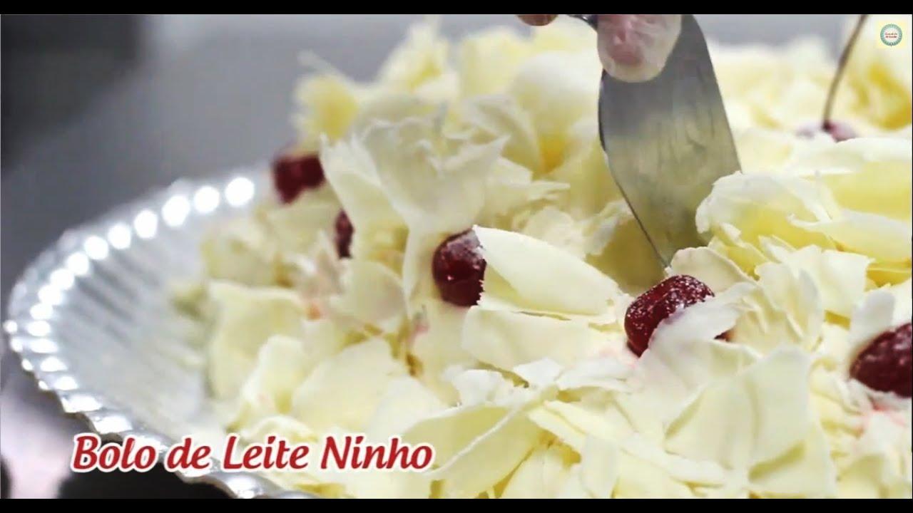 Fabuloso Bolo de Leite Ninho (passo a passo) - Emilia Leiko - YouTube OF25