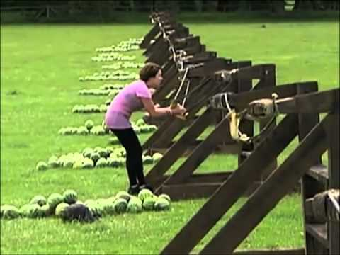 To face from giant slingshot slow motion amazing race youtube