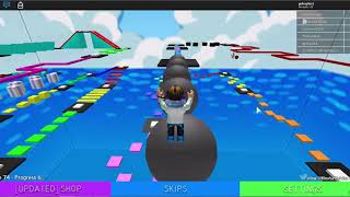 Playing with a friend on roblox:ROBLOX: mega fun obby