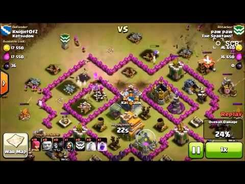 Clash of Clans EPIC TH7 [The Mantis] Anti Giant base in action!