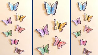 Butterfly Wall Decor | Wall Decor Ideas | How To Make Butterfly | Home Decorating Ideas